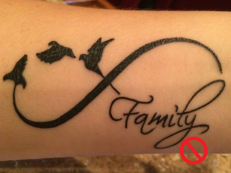 This is a NO GO tattoo