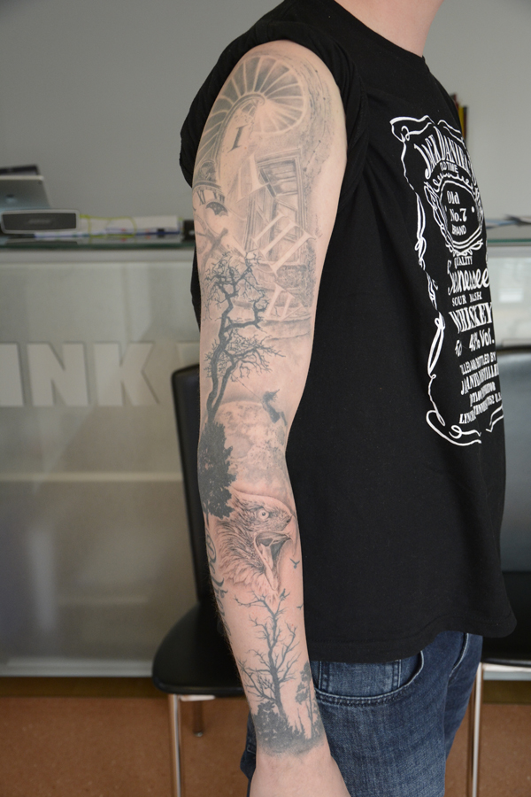 Silvano Braga Tattoo Gallery Blackandwhite Sleeve 01
