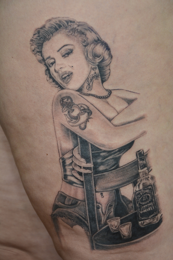 Silvano Braga Tattoo Gallery Marilyn Audrey 01