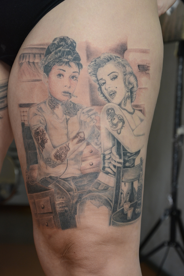 Silvano Braga Tattoo Gallery Marilyn Audrey 03