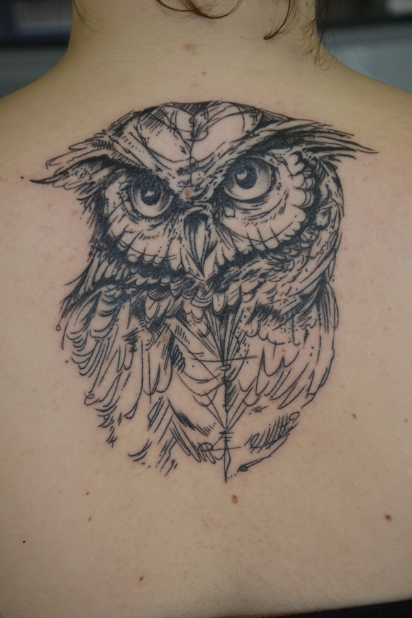 Silvano Braga Tattoo Gallery Owl Sketch